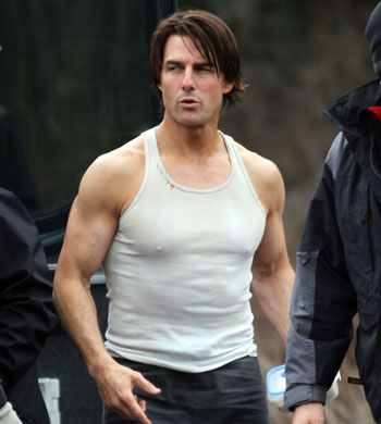 Tom Cruise On The Set Of 'Mission Impossible 4: Ghost Protocol'